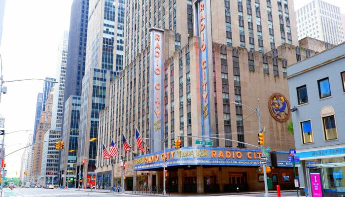 Radio City Music Hall in New York Venue Outside